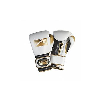 Pro Box Special Edition 'Pro Spar' Leather Boxing Gloves - White Gold