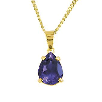 Shipton and Co Ladies Shipton And Co 9ct Yellow Gold And Amethyst Pendant Including A 16