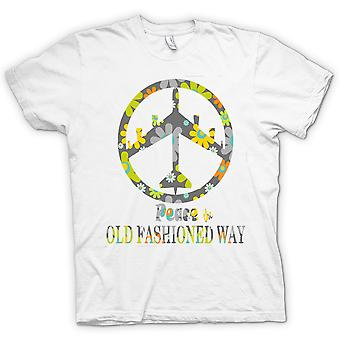 Mens T-shirt - Peace The Old Fashioned Way - B52