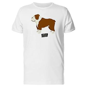 English Bulldog Geometric Style Tee Men's -Image by Shutterstock