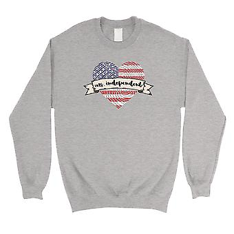 Miss Independent Sweatshirt Grey Cute 4th of July Outfits For Women