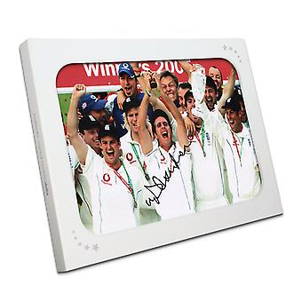 Michael Vaughan Signed Cricket Photo: Ashes Winners 2005. In Gift Box
