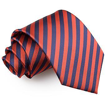 Marineblau & rot dünnen Streifen klassische Krawatte