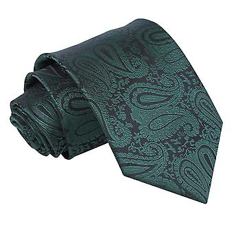 Smaragd grøn Paisley klassisk slips