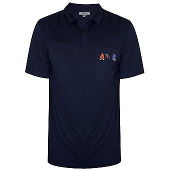 Lanvin Lanvin Navy Blue Firebird Polo Shirt