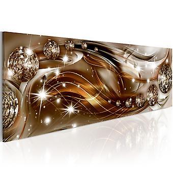 Canvas Print - Ribbon of Bronze and Glitter
