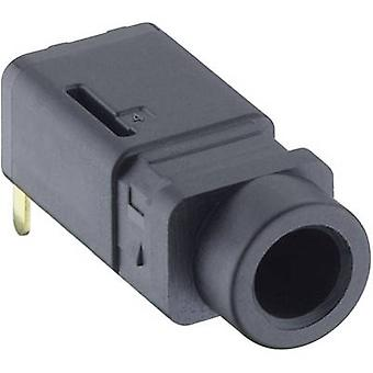 3.5 mm audio jack Socket, horizontal mount Number of pins: 4 Stereo Black Lumberg 1503 16 1 pc(s)
