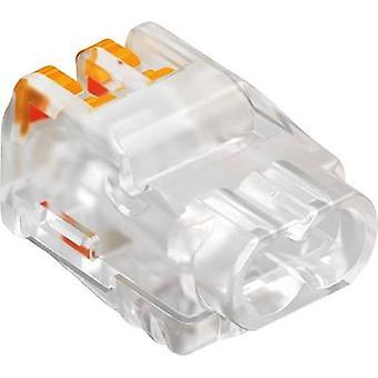 OBO Bettermann 1790 コネクタ クリップ フレキシブル: 0.2 2.5 mm ² 剛: 0.2 2.5 mm ² ピン数: 2 1 pc(s) 透明オレンジ