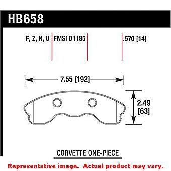Hawk 'Performance Street' Brake Pads HB658B.570 Fits:CHEVROLET 2006 - 2013 CORV