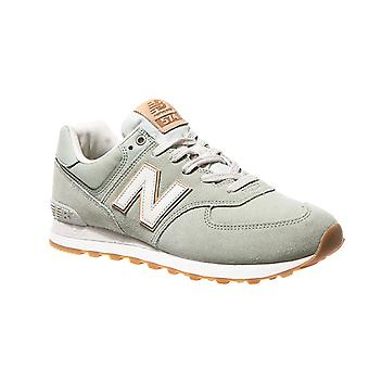 New balance men's ML574 light green sneakers