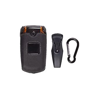 Samsung SGH-A167 Leather Clip-On Case
