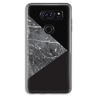 LG V30 Transparent Case (Soft) - Marble combination