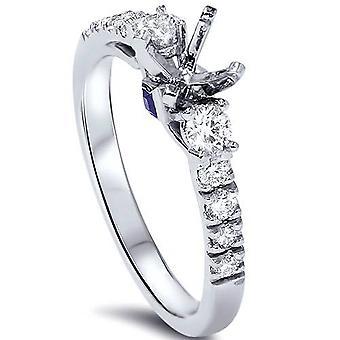 Anello di fidanzamento diamante ct 3/8 impostazione platino 950