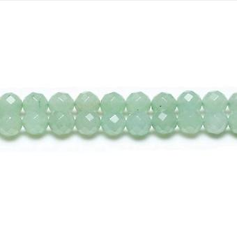 Strand 95+ Green Aventurine 4mm Faceted Round Beads GS1627-1