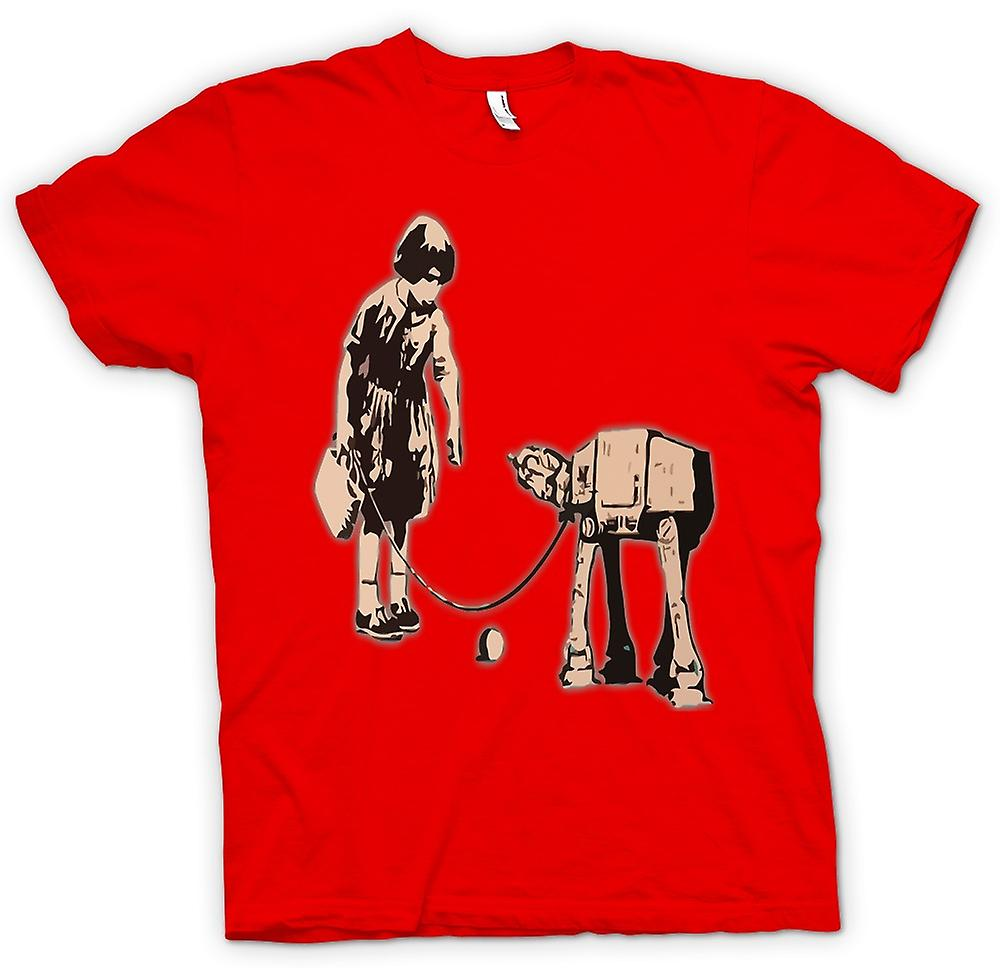 Mens T-shirt - Banksy Graffiti-Kunst - Fetch
