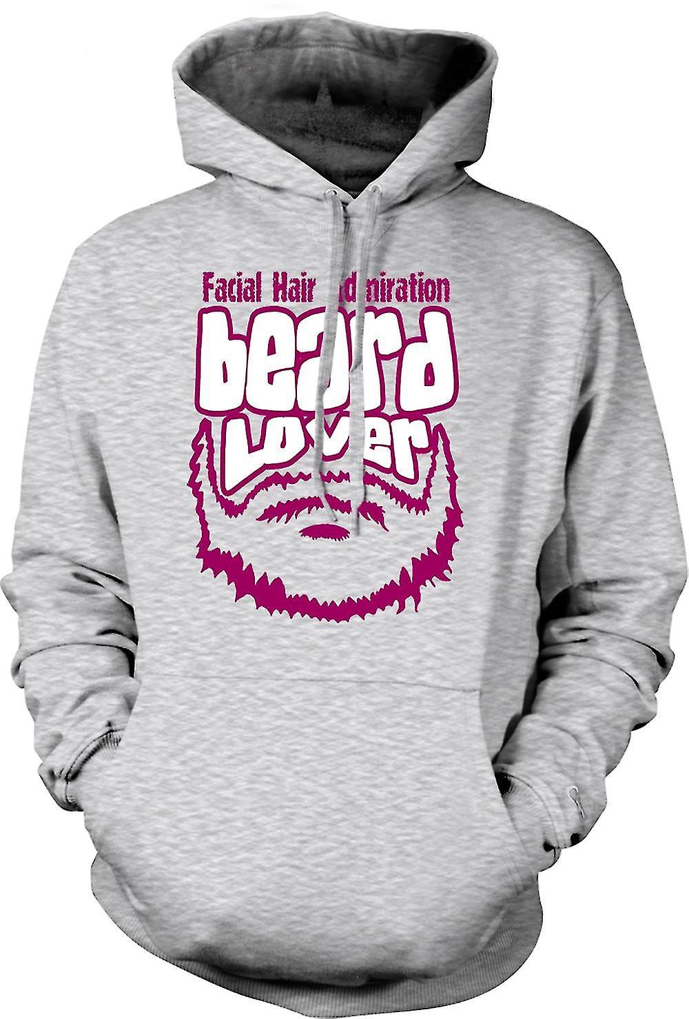 Mens Hoodie - skägg Lover - Funny