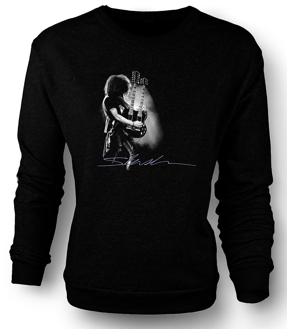 Mens Sweatshirt Guns n Roses - Slash Twin Guitar