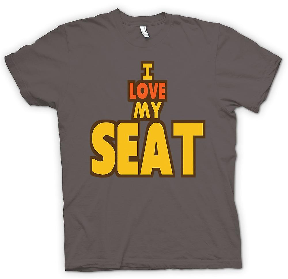 Womens T-shirt - I Love My Seat - Car Enthusiast