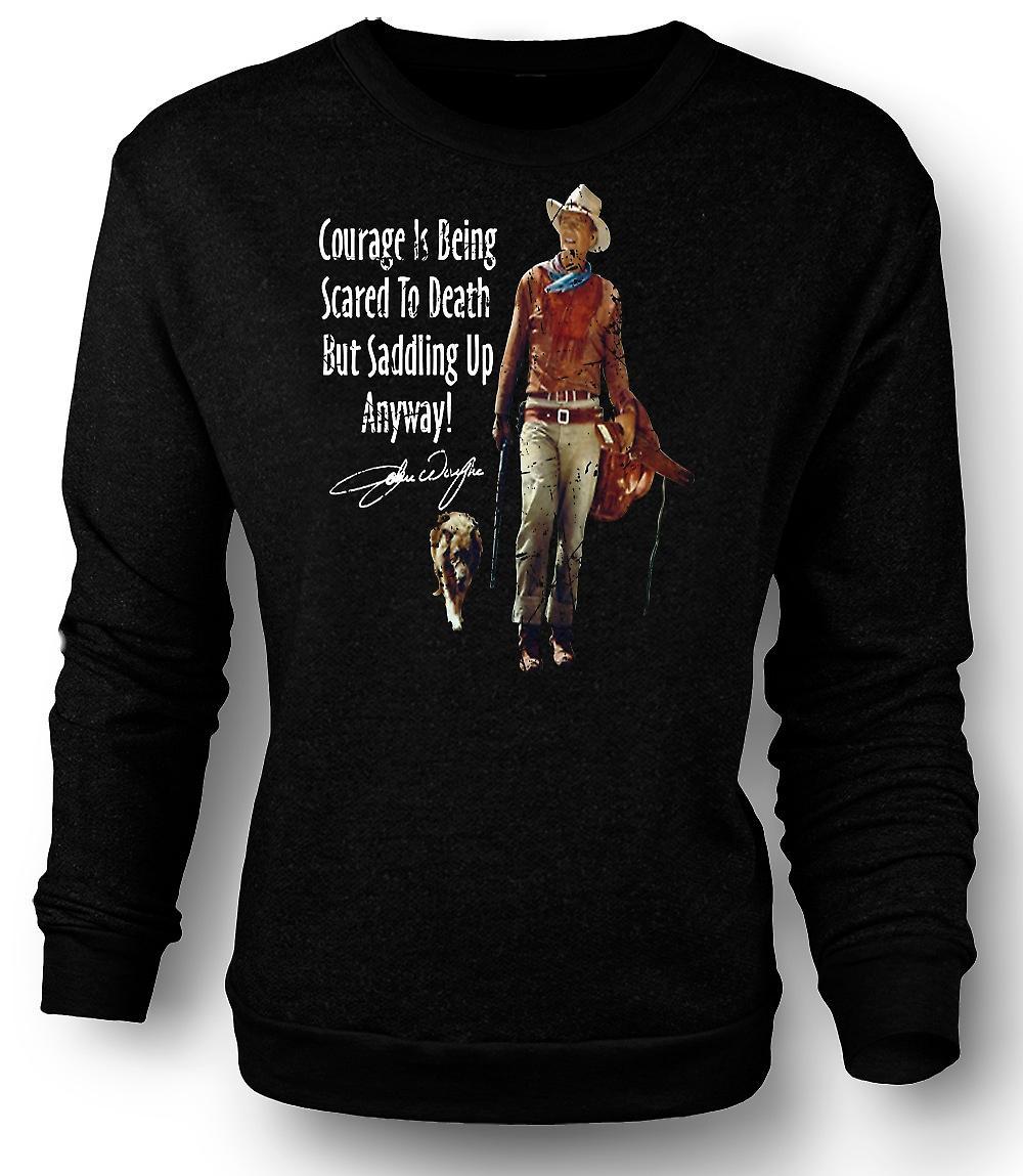 Mens Sweatshirt John Wayne mod - Western Cowboy