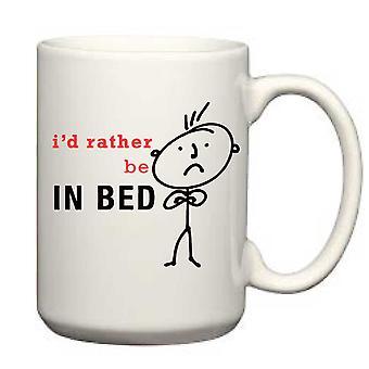 Je préfère être dans le lit Man Mug pour hommes
