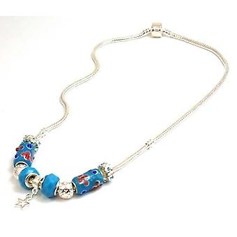 TOC beadz Branded-Sterne Blue Bead Collier - 45cm