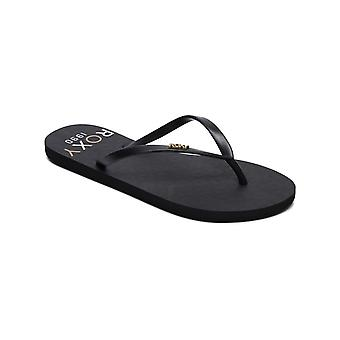 Roxy Black Multi Viva Stamp II Womens Flip Flop