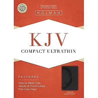 KJV COMPACT ULTRATHIN CHARCOAL LEATHERLIKE
