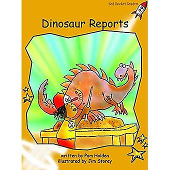Dinosaur Reports: Level 4: Fluency (Red Rocket Readers: Fiction Set B)