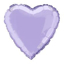 Foil Balloon Heart Solid Metallic Lavender