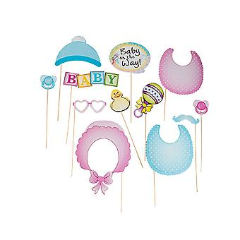 Baby Shower Large Photo Booth Props for Celebrations & Parties