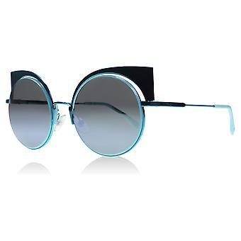 Fendi 0177/S W5I Aqua 0177/S Cats Eyes Sunglasses Lens Category 3 Lens Mirrored Size 53mm