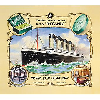 Titanic Vinolia Soap Steel Fridge Magnet