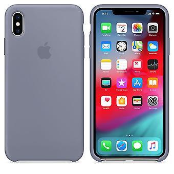 Embalagem original Apple do silicone Micro fibra capa case para iPhone XS Max - lavanda cinza