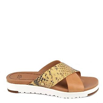 Ugg Kari Exotic Tan Slide