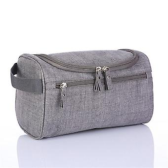 Hemp Grey toiletry bag for men as a woman large capacity