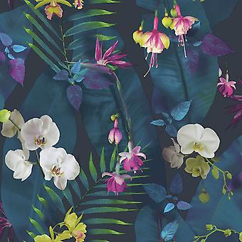 Arthouse Pindorama fleurs tropiques floral marine Wallpaper rose qualité designer