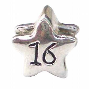 TOC BEADZ '16' Star 11mm Funky Slide-on Bead