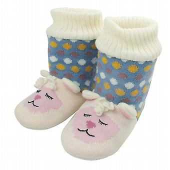 Aroma Home Knitted Animal Slipper Booties: Lamb