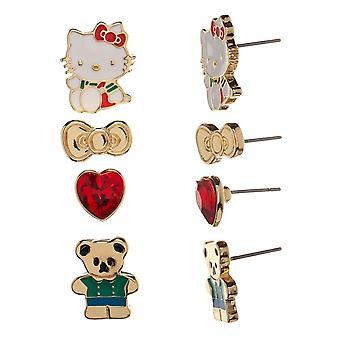 Hello Kitty 4-Piece Earring Set