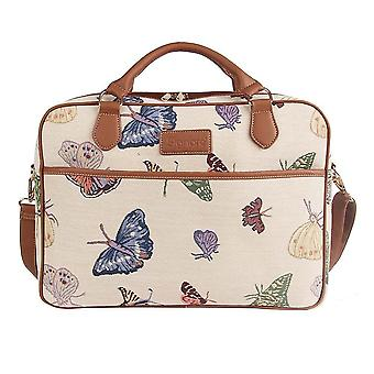Butterfly laptop bag by signare tapestry / 15.6 inch / cpu-butt
