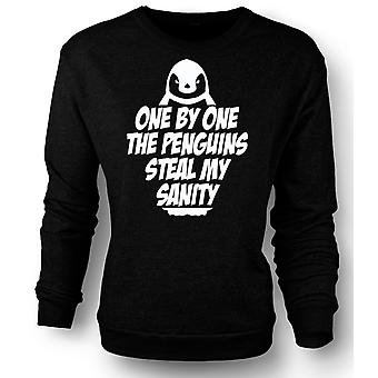 Kids Sweatshirt One By One The Penguins Steal My Sanity