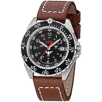 KHS Enforcer Steel with leather strap buffalo leather brown - KHS. ENFS. LB5