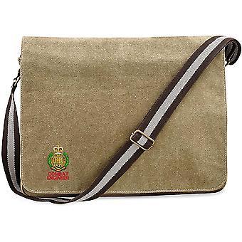 Engenheiros de combate Royal Engineer-licenciado exército britânico bordado vintage Canvas saco mensageiro Despatch