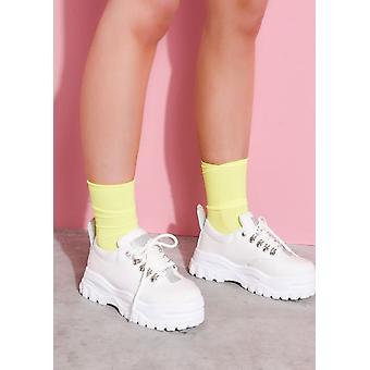 Rippenknöchel Socken Neon Gelb