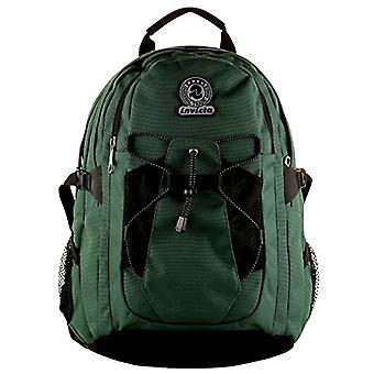 Active Invicta Backpack - BENIN - Green - 25 Lt - Net Side Pocket - Trekking School and Leisure