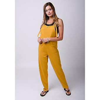 Mabel jersey jumpsuit in gold