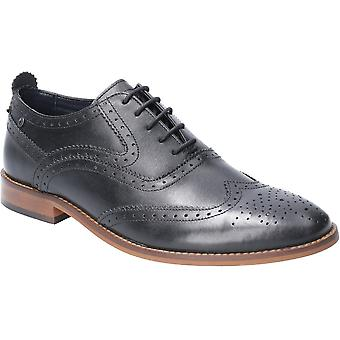 Base London Mens Focus Waxy Lace Up Brogue Oxford Shoes
