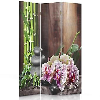 Room Divider, 3 Panels, Double-Sided, Rotatable 360, Canvas, Stones 5