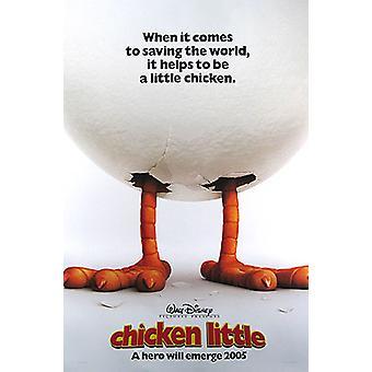 Chicken Little (Doppio Sided Advance) Poster originale al cinema