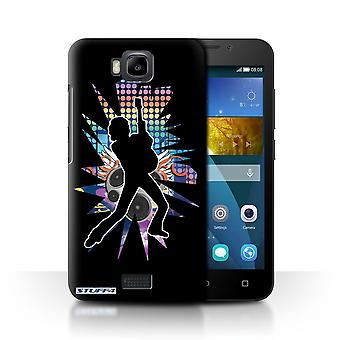 STUFF4 Case/Cover for Huawei Honor Bee/Y5c/Lean Black/Rock Star Pose